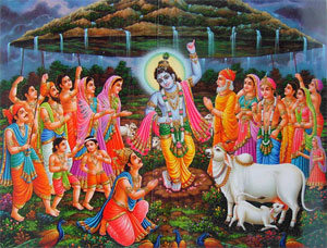 Govardhan Puja in 2014 is celebrated on the next day of Diwali.
